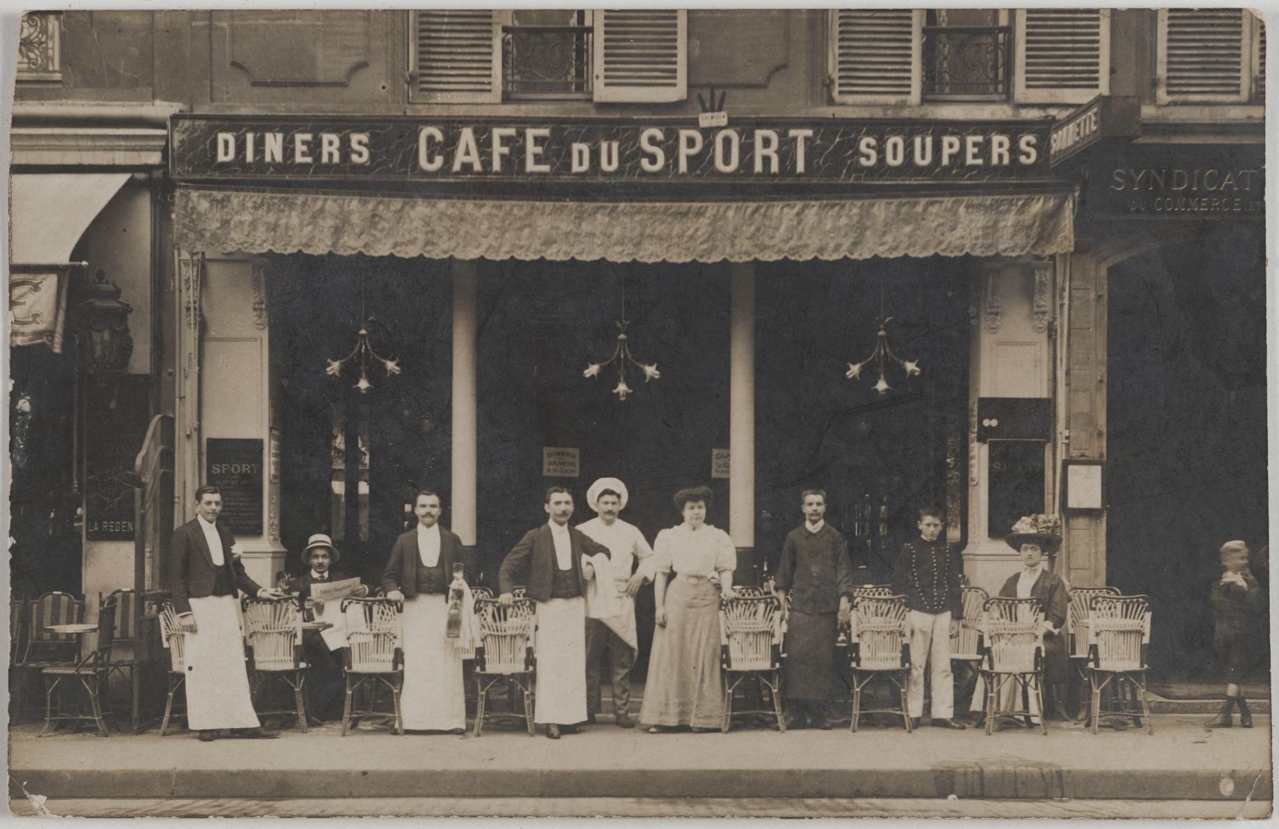 1908. Кафе Спорт, 163 Saint-Honoré (1-й округ). Сейчас на этом месте ресторан Higuma