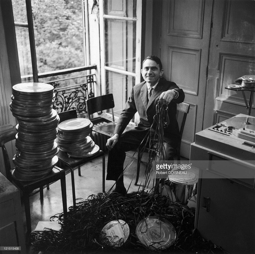 1961. Французский композитор, теоретик и писатель Пьер Шеффер