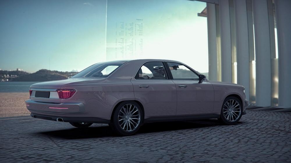 Российский дизайнер представил, как могла бы выглядеть современная «Волга»