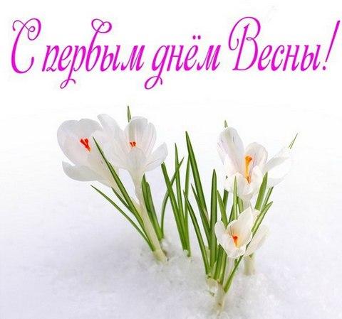 Картинка С первым днем весны! Подснежники
