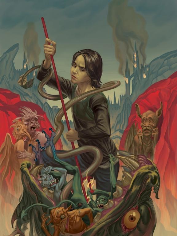 Вампиры, обортни и другая нечисть в иллюстрациях Стива Морриса