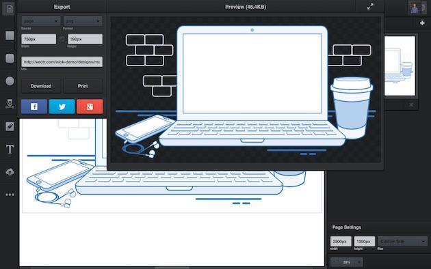 Vectr — ещё один неплохой редактор векторной графики. Он бесплатен, но разработчики планируют добави