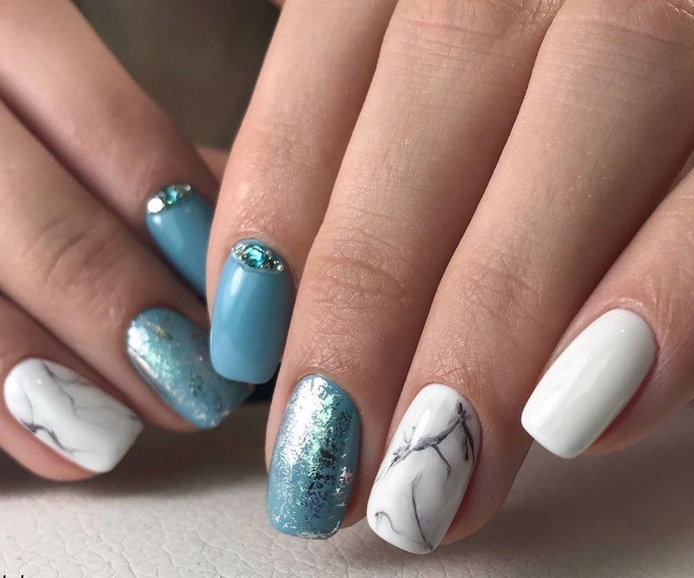 Мраморные ногти – секреты стильного маникюра своими руками (1 фото)
