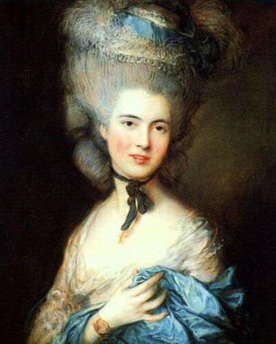 Дама в голубом. Томас Гейнсборо, конец 1770-х - начало 1780-х гг. .jpg