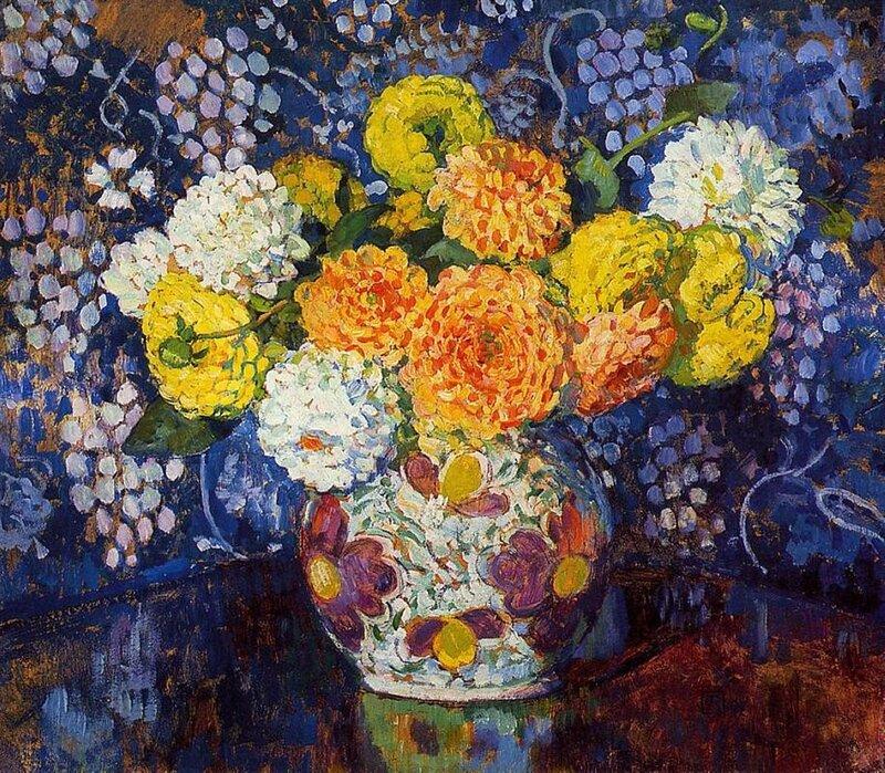 vase-of-flowers-1907.Theo van Rysselberghe.