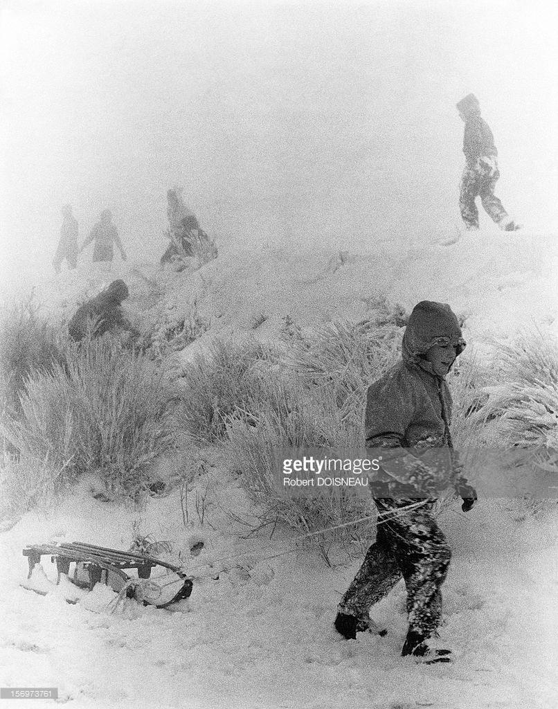 1956. Дюны Лаффре зимой