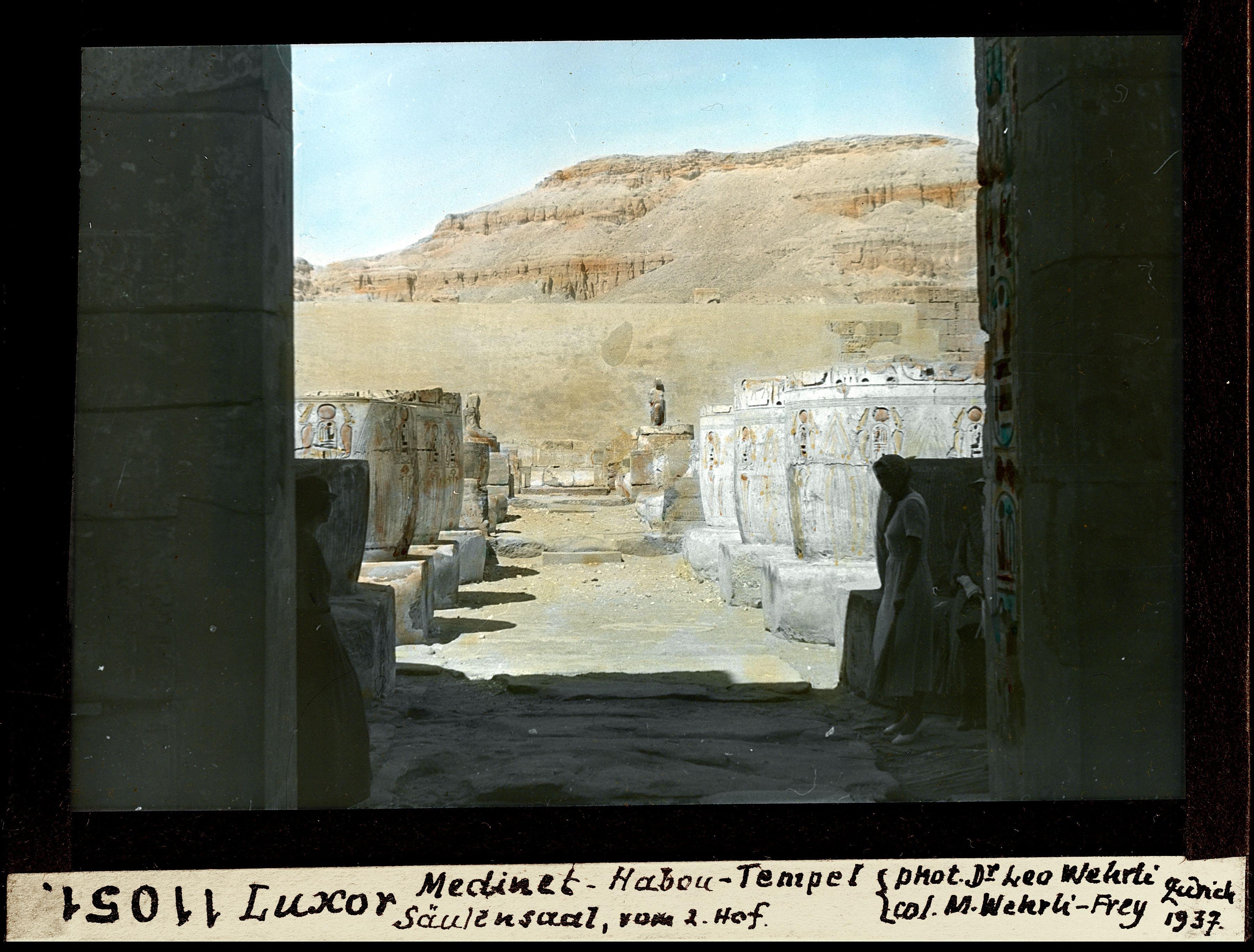 Мединет-Абу. Погребальный храм Рамсеса III. Колонный зал