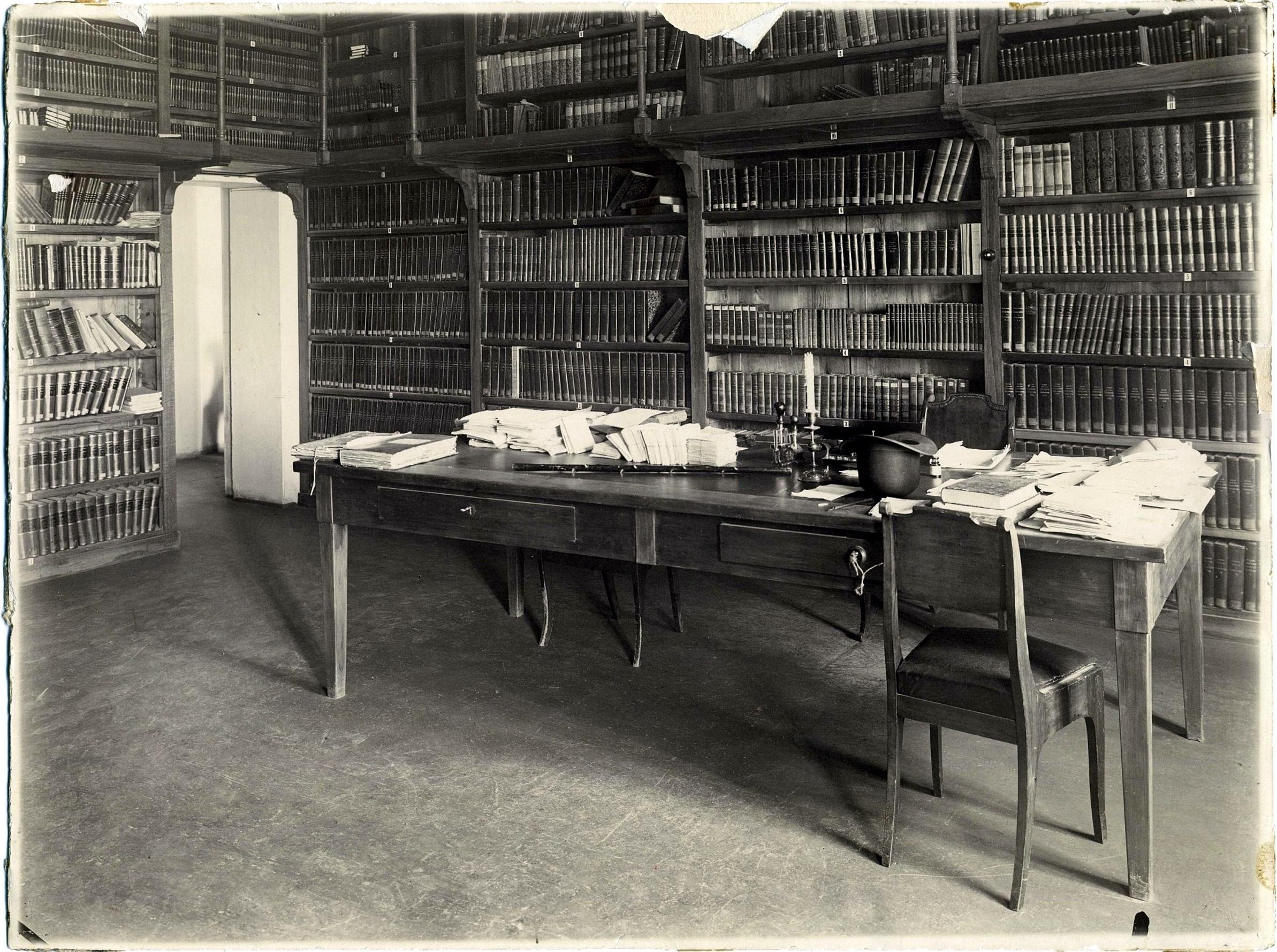 Кабинет библиотекаря Императорского Казанского университета. 1896