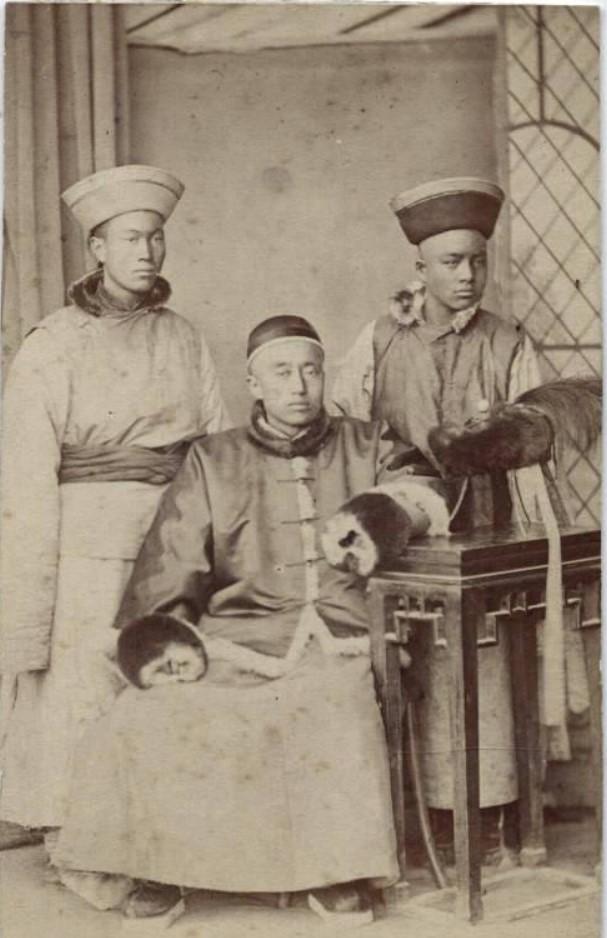 Китайский посол со свитой в Ташкенте.1872