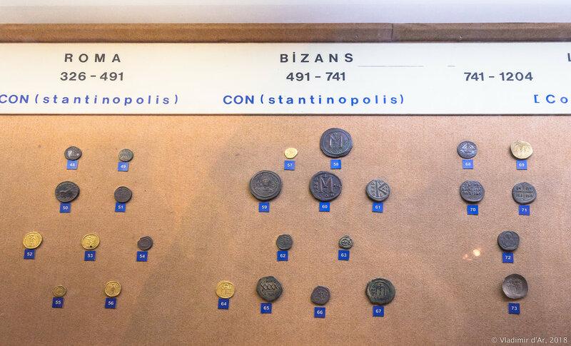 Монеты времен Рима, Византии. Контсантинополь.