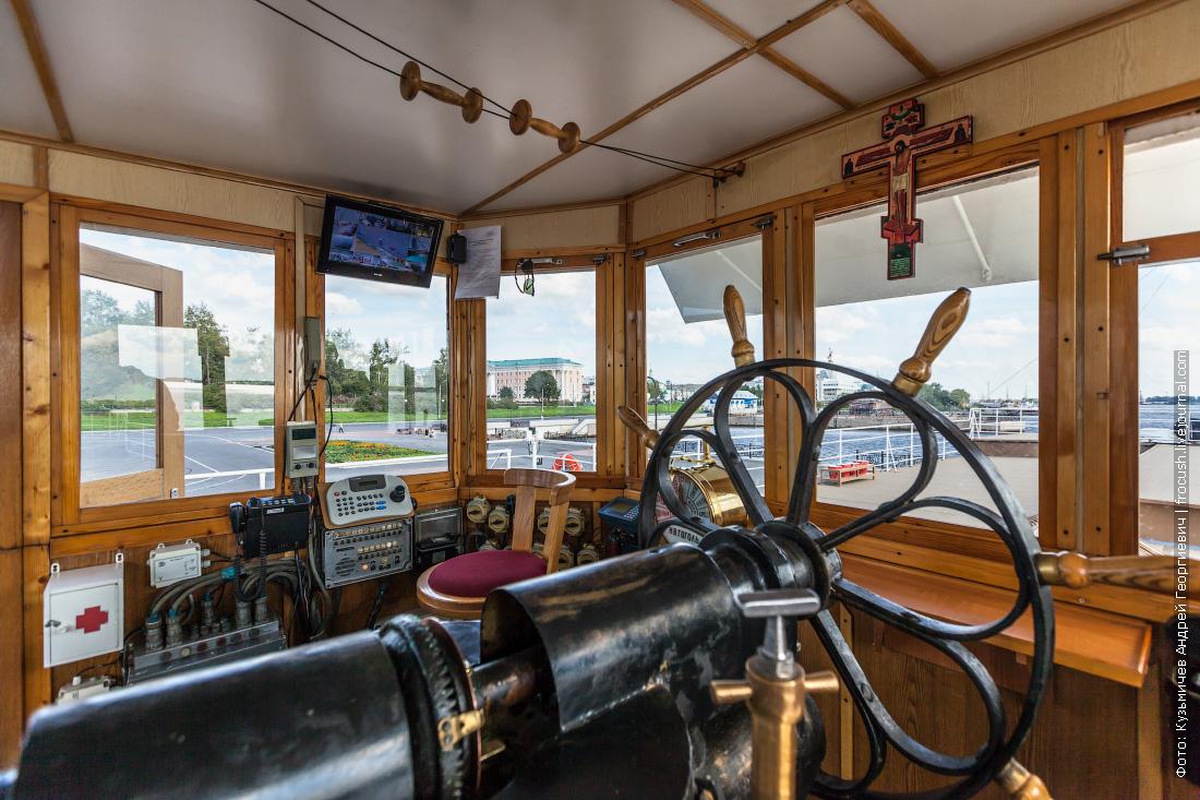 пароход Гоголь описание ходовая рубка паровая рулевая машина