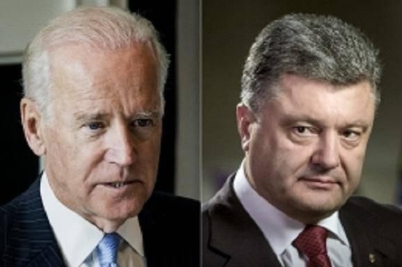 Не забывать о полузабытое: Порошенко обсудил с Байденом усилия по деоккупации Крыма