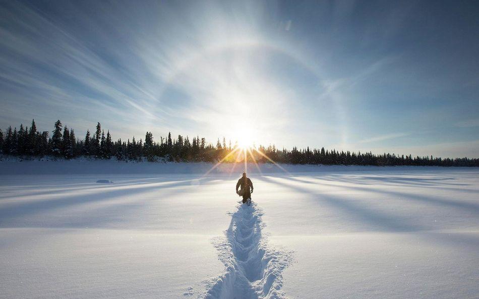 Зимний пейзаж фото