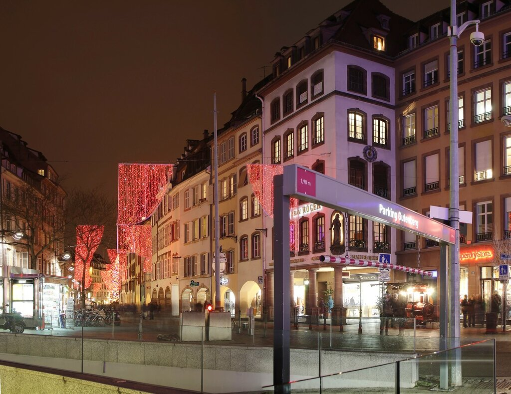 Night New-year Strasbourg