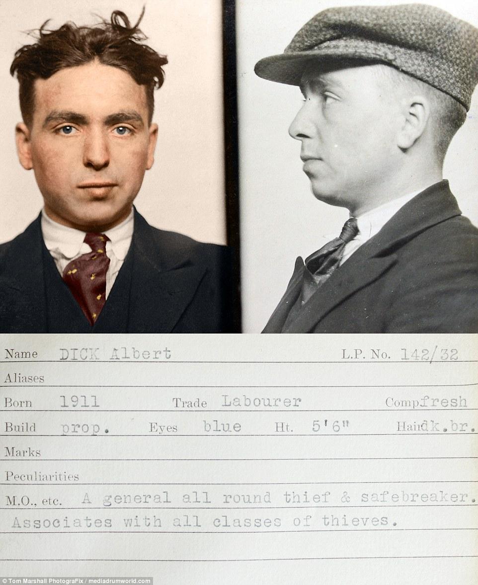 Альберт Дик — рабочий, рост 177 сантиметров, волосы темно-русые, глаза голубые, родился в 1911 году.