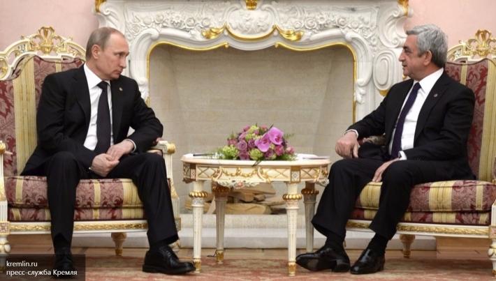Путин проведет переговоры спрезидентом Армении Саргсяном в столице России