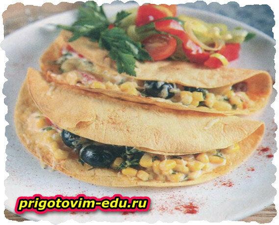 Энчилады с маслинами и свининой по-мексиканки