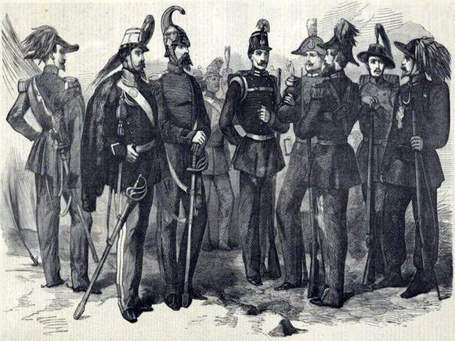 Офицеры сардинского корпуса
