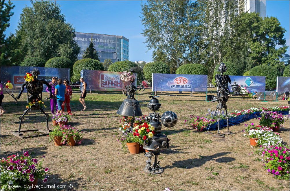 Выставка цветов в день города в екатеринбурге