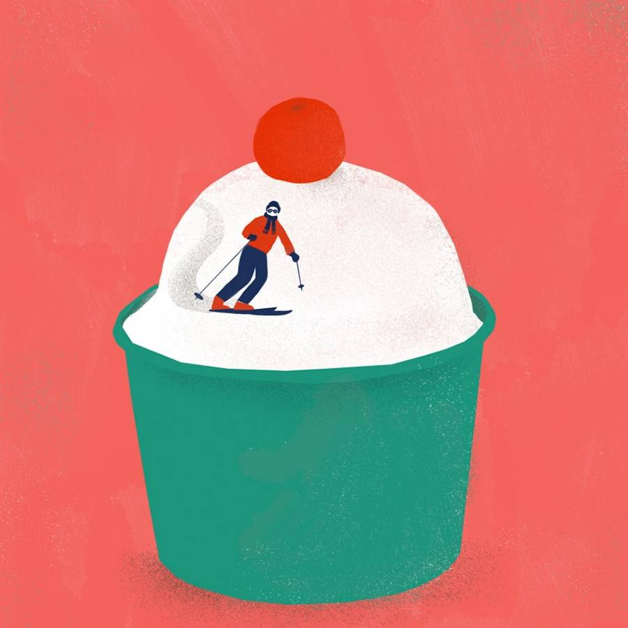 Creative Illustrations Involving Giant Food