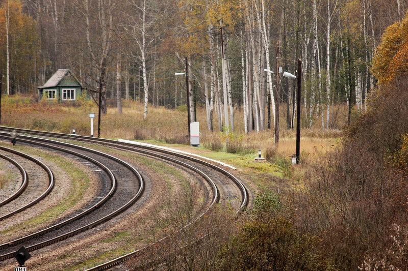 Платформа на станции Гарнея, вид с холма