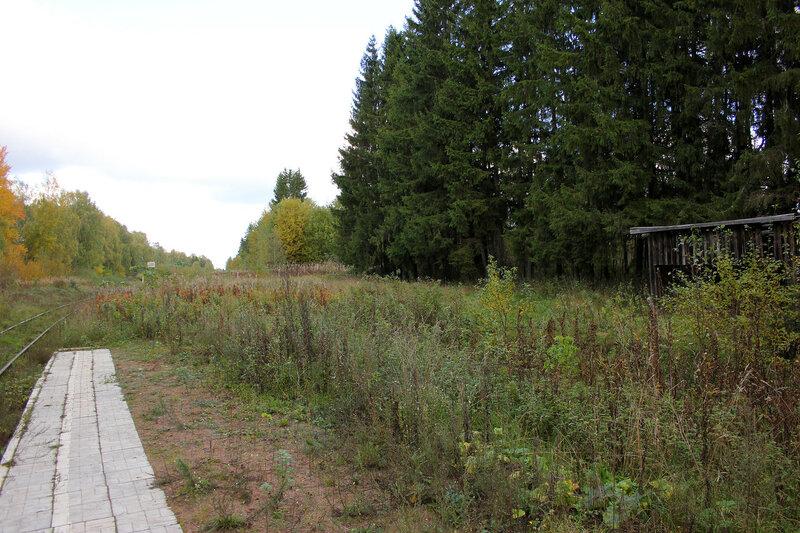 Платформа 358 км Ивановские казармы перегона Овинище-2 - Весьегонск и постройка