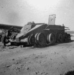 Подбитый танк БТ-5. Испания.