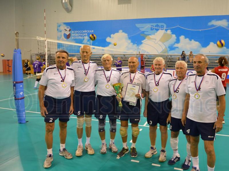 Обнинская команда ветеранов волейбола стала обладателем Кубка России