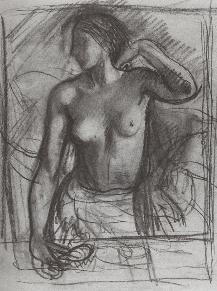 Этюд к женскому портрету. 1910-е.jpg