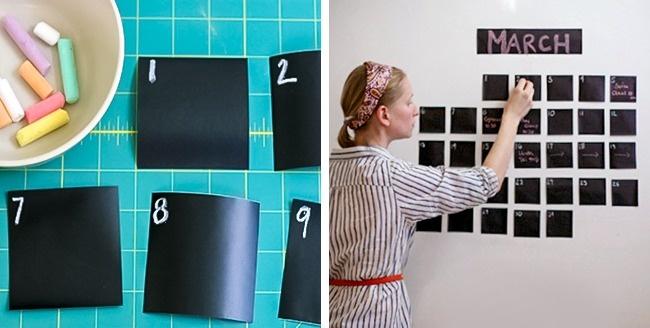 © athome     Если хотите иметь настенный календарь, где можно делать заметки, воспользуйт