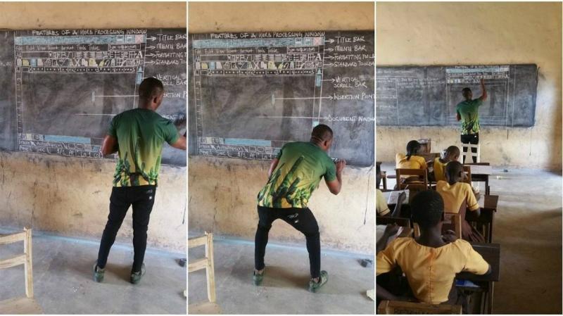 Африканским школьникам, изучавшим Word по рисункам на доске, пожертвовали компьютеры (3 фото)