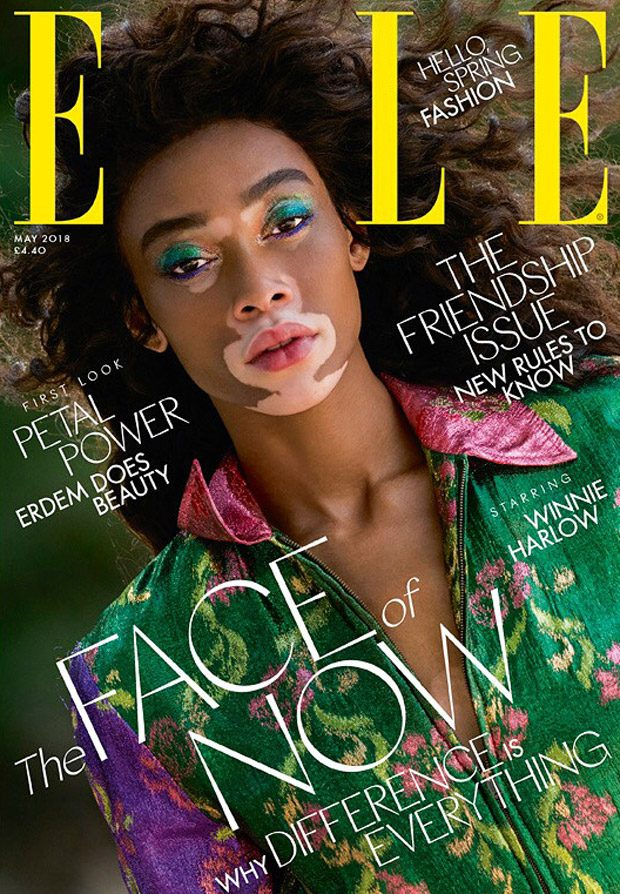 Winnie Harlow is the Cover Star of Elle UK May 2018 Issue (2 pics)