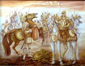 Победа Томирис над Киром 130*100 х.м. 2015