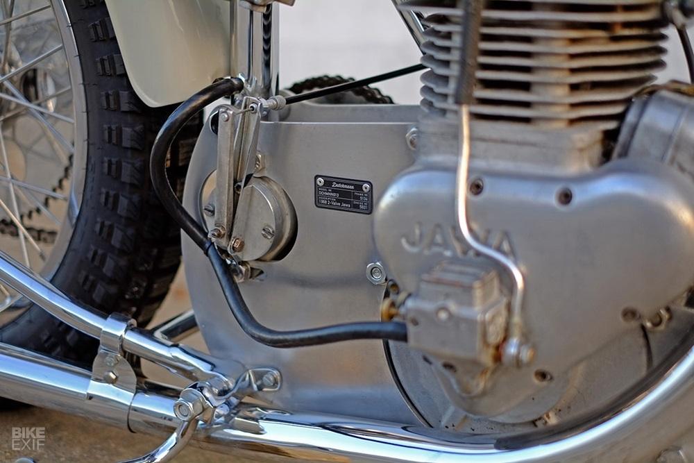 Dutchmann: отреставрированный спидвейный байк Ява / Jawa 1968