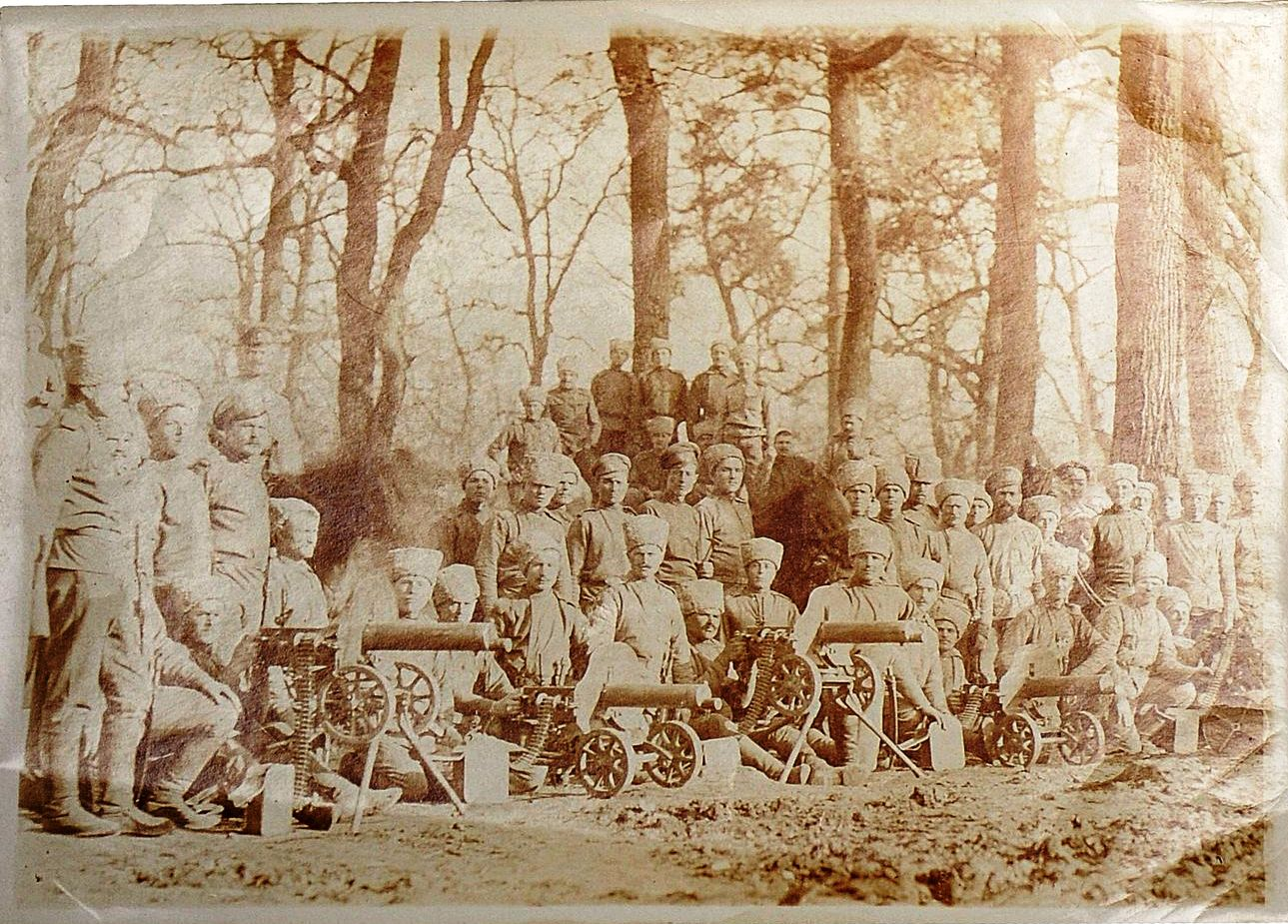 Фото военнослужащих 78-го пехотного Навагинского генерала Котляревского полка и пулеметной команды полка