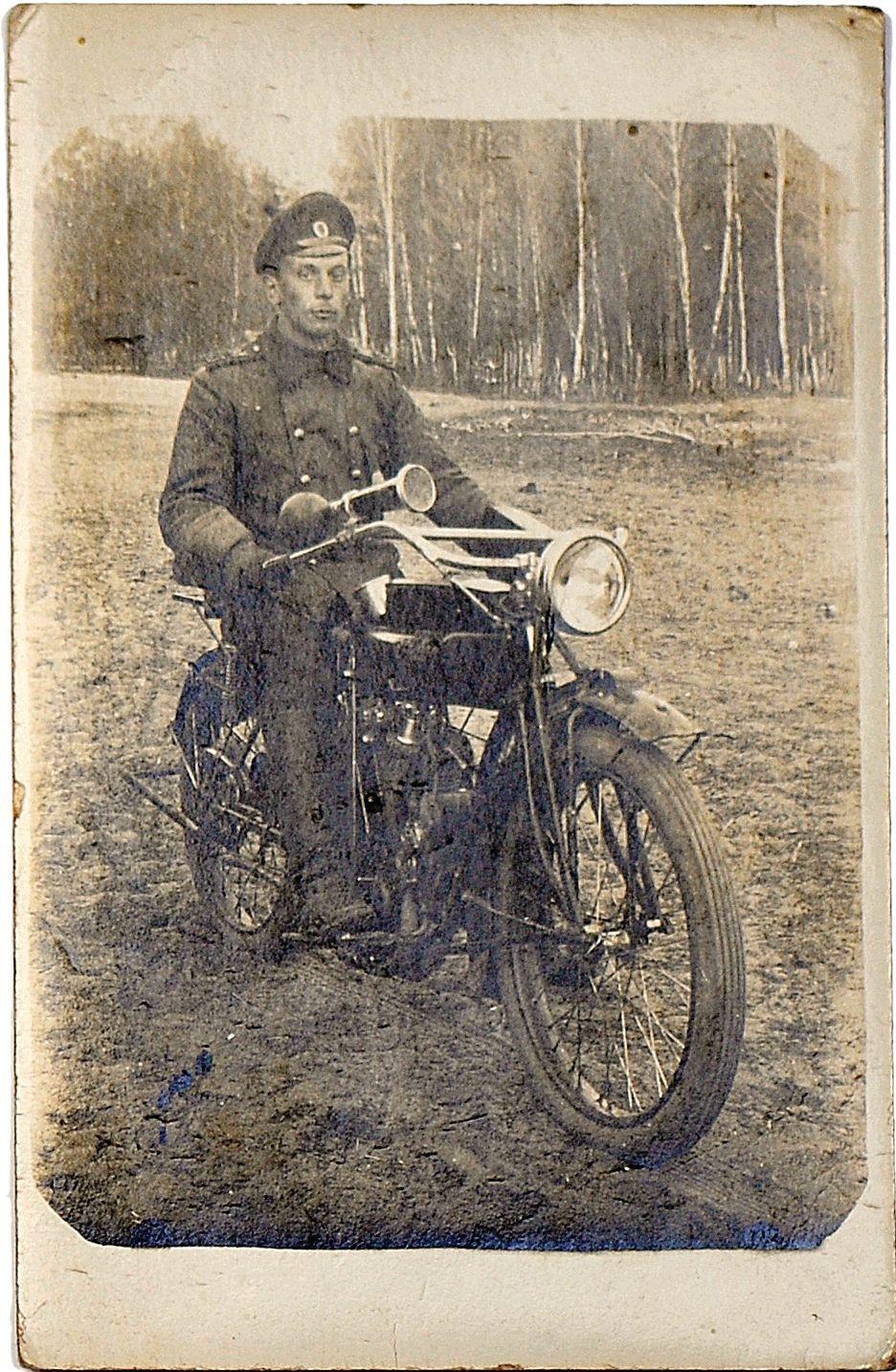 Фото рядового 43-й автомобильной роты. 1917