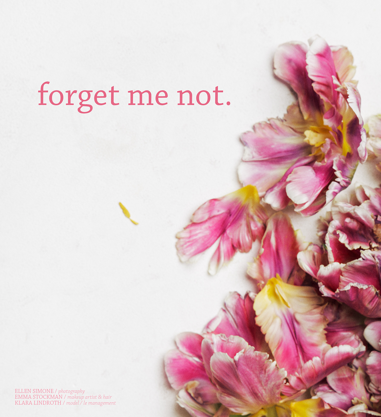 Forget me not for LUCY's Magazine / фото Ellen Simone