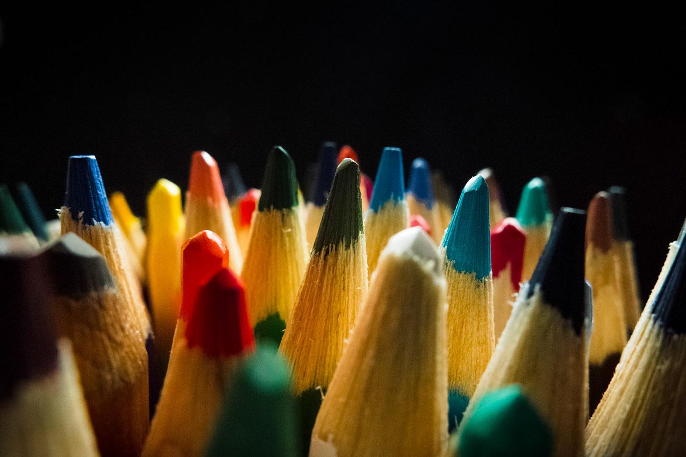 Цветные карандаши / фото Oswaldo Vito Scarlino