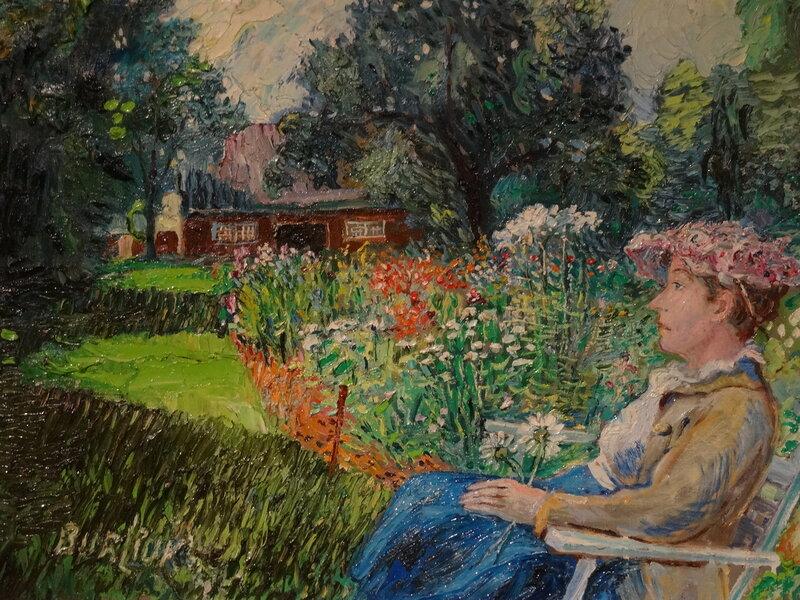 Давид Бурлюк Госпожа Бурлюк в своем саду. 1940-е Коллекция Александра Зарецкого1.JPG