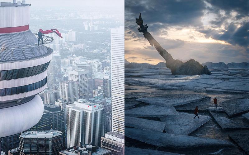 Удивительные киберпанковские и постапокалиптические урбанистические пейзажи (23 фото)