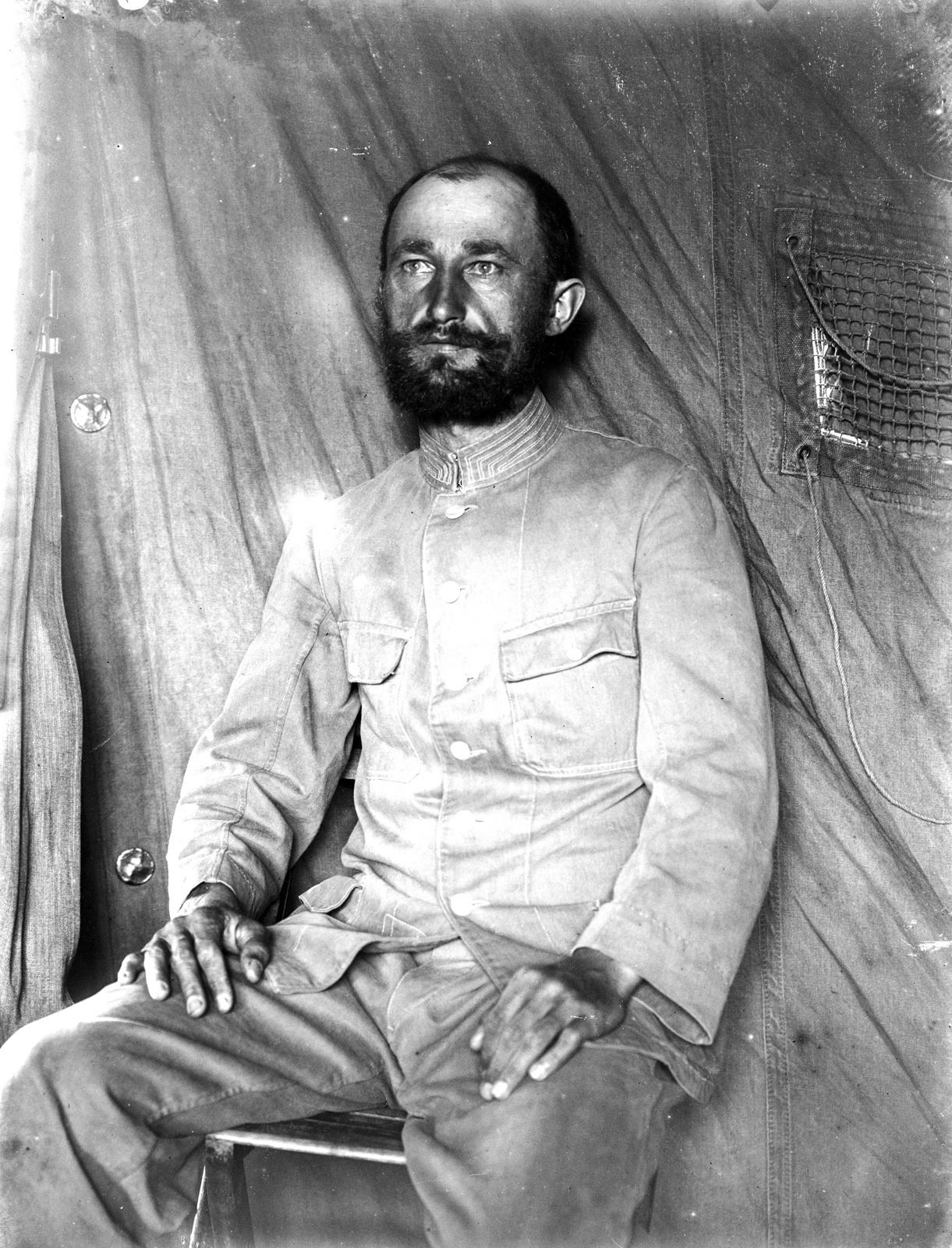 123. Портрет руководителя экспедиции Фрица Техмера