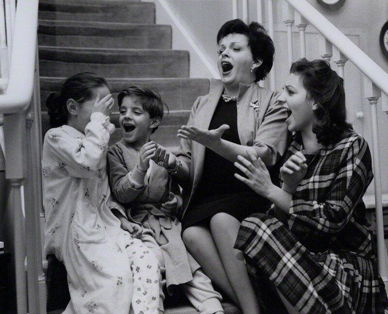 NPG x136600; Judy Garland; Liza Minnelli; Lorna Luft and Joey Luft