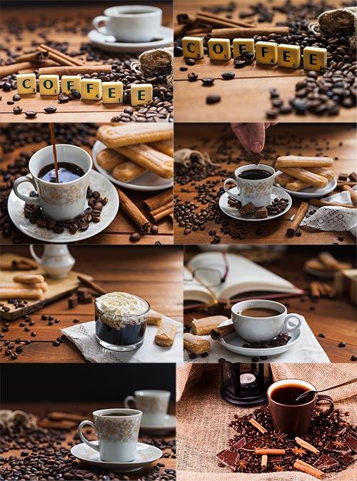 Чашки с кофе - Клипарт / Cup of coffee - Clipart
