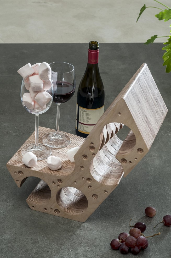 Say Cheese Wine Rack by MuseMART