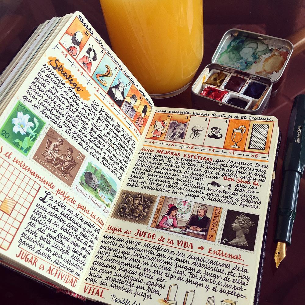 travel colors color calligraphy handmade sketchbook