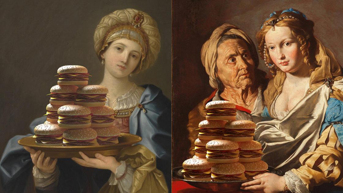 Il offre des montagnes de burgers aux chefs-d'?uvre de la peinture (15 pics)