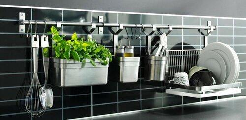 Современные рейлинговые системы для кухни
