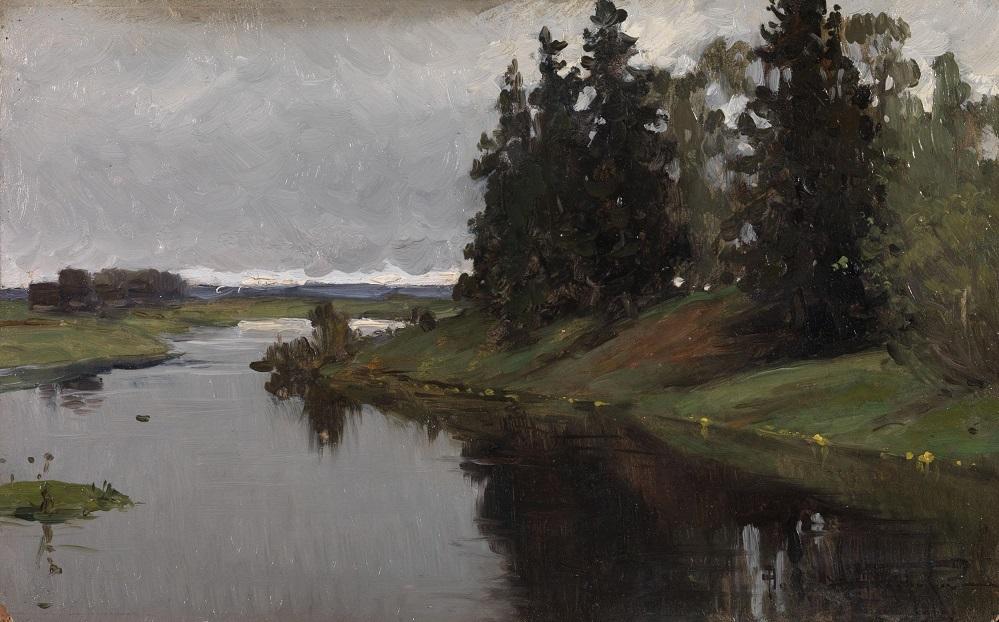 River Landscape , 1916.