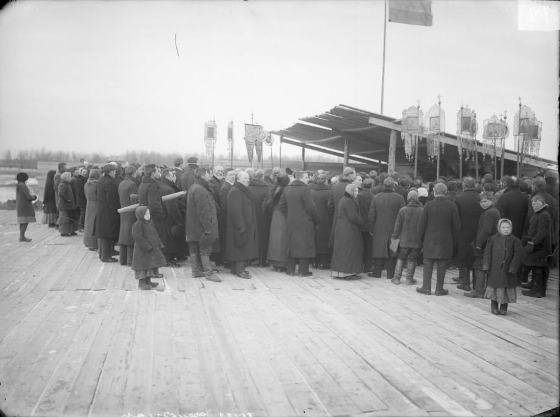 Завод «Фельзер» Молебен при закладке завода. 1915