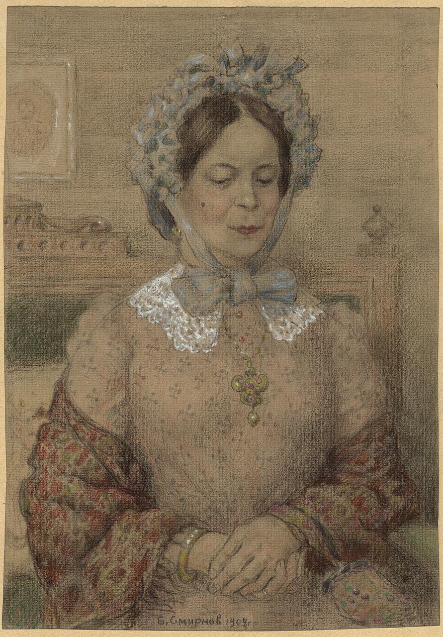Иркутская модница. Позировала жена судейского чиновника, у которого был кружок любителей рисования